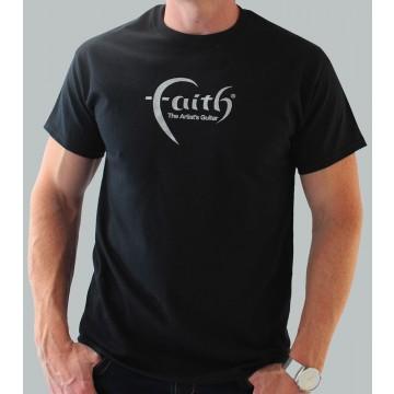 Faith Guitars T-Shirt Black/Silver - Medium